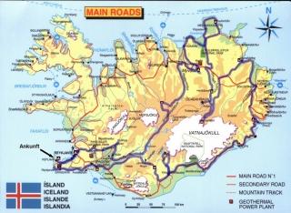 Island - komplette Route